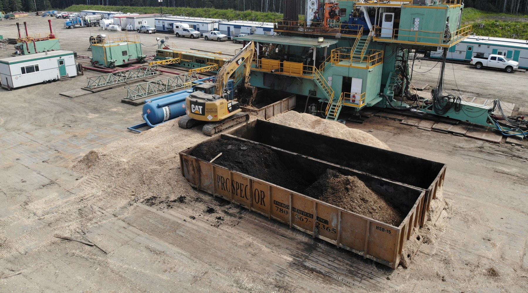 Image of Prospector Energy equipment at a wellsite
